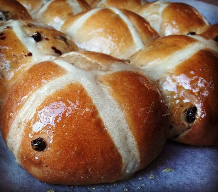 Easter Hot Cross Buns, soft, flavorsome, spicy and oh so delicious. I love them, It is worth trying make a batch at least around Easter time. It's a winner!