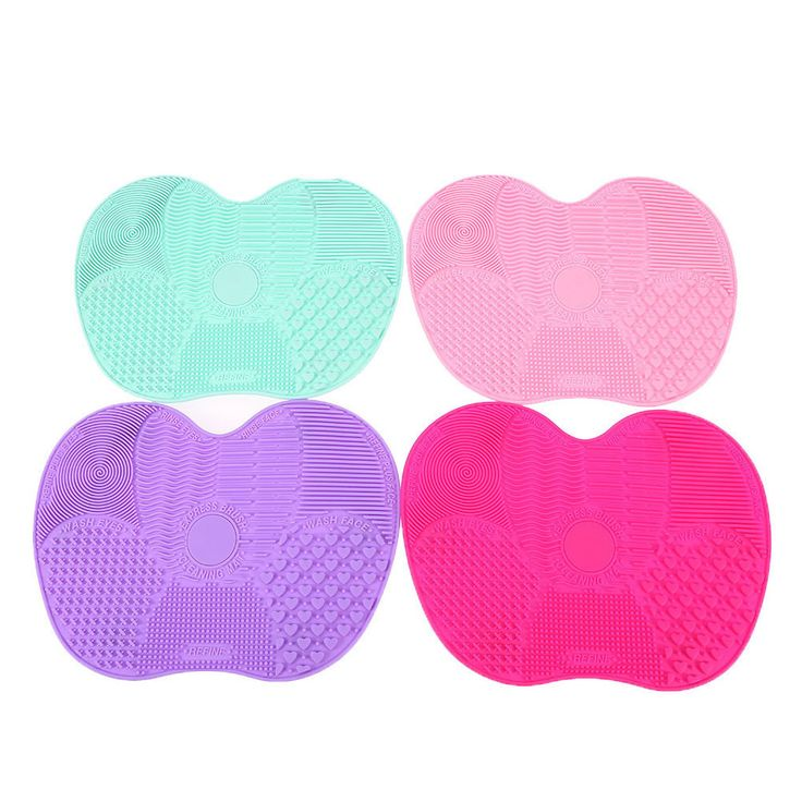 20Pcs/Lot Silicone Brush Cleaning Mat Brushes Cleanser Make up Brush Cleaner Pad Cosmetic Clean Tools For Eyes Face Brushes #Affiliate