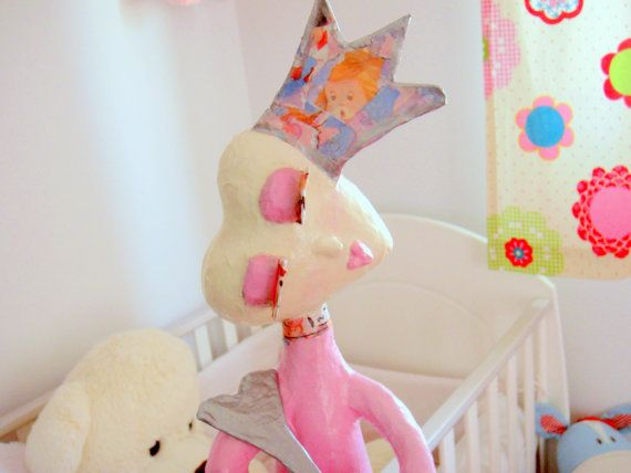 """papier mache lamp shade from papiera's """"paperloops"""" collection"""