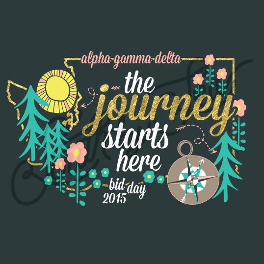 Sorority Recruitment Alpha Gamma Delta Nature Trees State Outline South By Sea                                                                                                                                                     More
