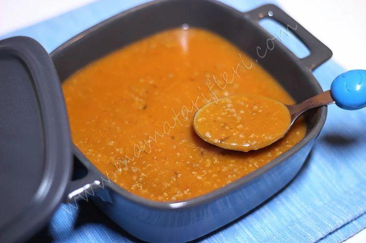 8 aylık bebekler için ek gıda kıymalı tarhana çorbası