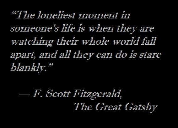 loneliness in the great gatsby Name: _____ the great gatsby - theme essay outline introduction thesis: loneliness is a result of isolating oneself through not only.