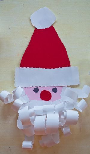 Adorable Santa Craft with Rolled Paper Beard