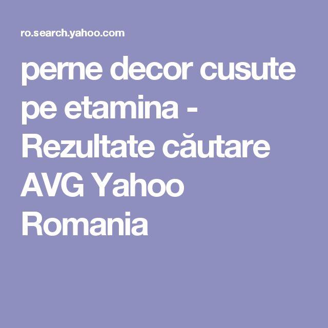 perne decor cusute pe etamina - Rezultate căutare AVG Yahoo Romania