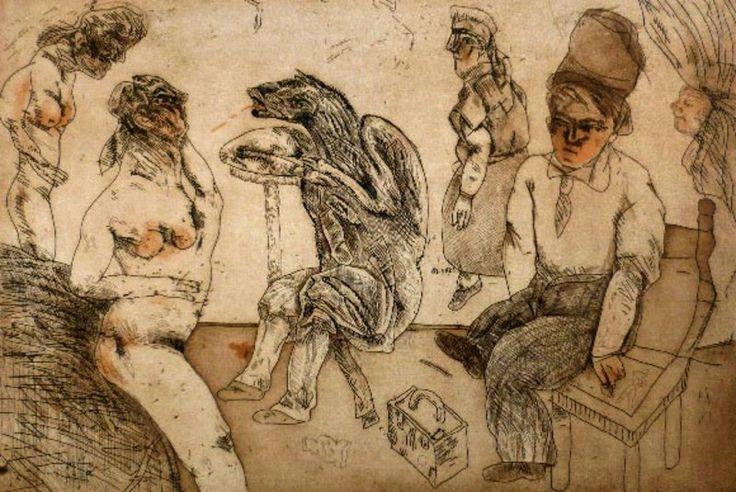 José Luis Cuevas - Autorretrato en Blanes (1981)