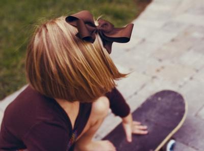 ... She was a bow wearing..board riding gal:) [imu]
