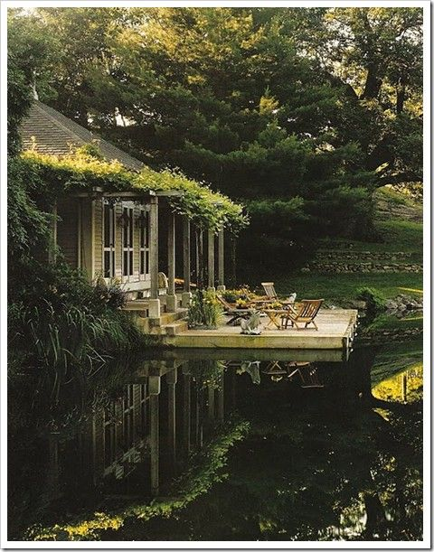 love this houseWater, Dreams Home, Lakes House, Decks, Dreams House, Cottages, Places, Porches, Backyards