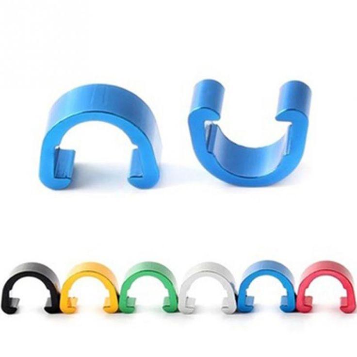 New 10 pcs multicolore C type boucle Snap pince disque de vélo câble de frein définit tuyau ligne de transmission tuyau(China (Mainland))