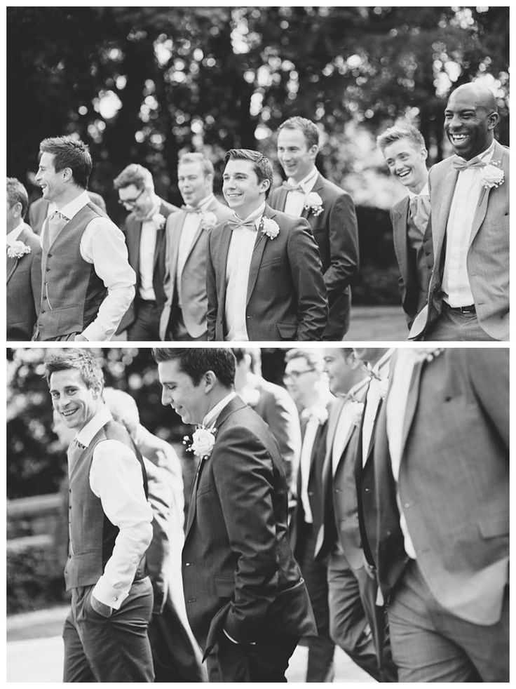 Groomsmen group shot at Woodlands, Leeds. Image by Toast of Leeds, quirky informal and relaxed wedding photography