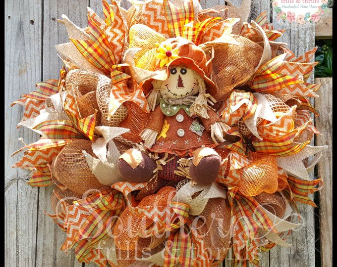 thanksgiving wreath fall mesh wreath autum deco by southernthrills