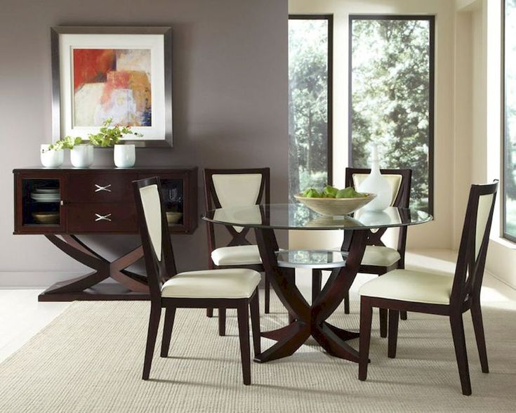 25+ best ideas about Glass dining room sets on Pinterest | Dinning ...