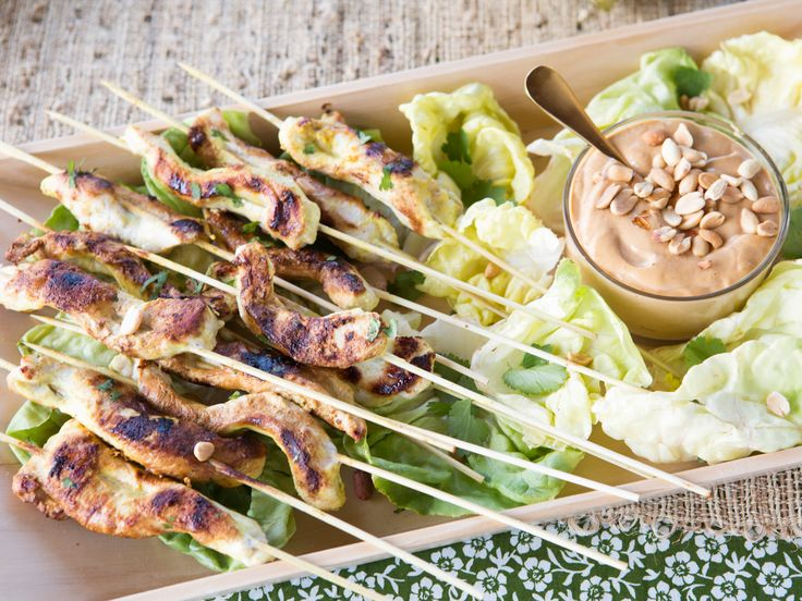 Chicken Satay with Peanut Sauce | Recipe | Chicken Satay, Peanut Sauce ...