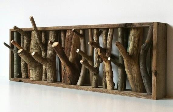 Upcycle broken twigs into a coat rack