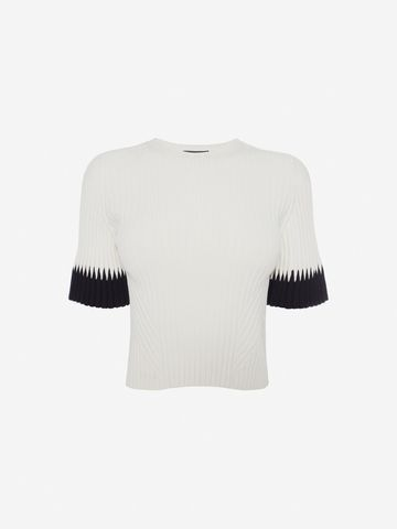 e71451c975e7 ALEXANDER MCQUEEN Top Woman Ribbed Crop Top f