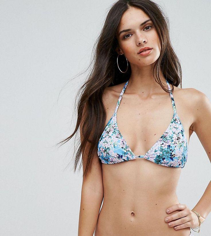 South Beach Floral Triangle Bikini Top - Multi