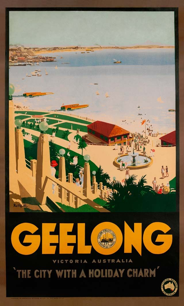 Vintage Poster Love - Geelong by James Northfield - http://www.australianvintageposters.com.au/shop/geelong-james-northfield/