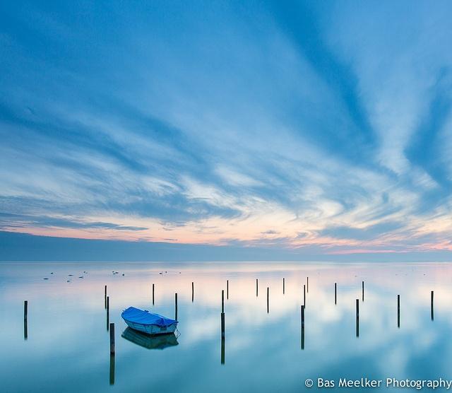 Time of blue - IJsselmeer, The Netherlands by Bas Meelker, via Flickr