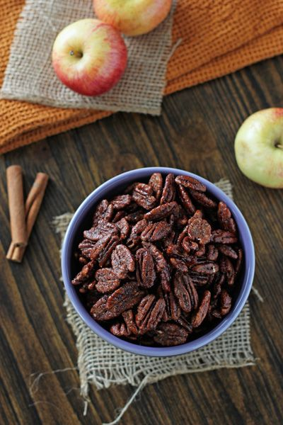 Apple Pie Spiced Pecans   Cookie Monster Cooking