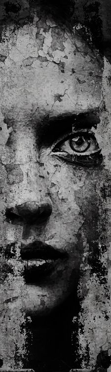 Facing the Shadow Self   Incredible street art and I like the cracking in the surface which adds nuances to the work!