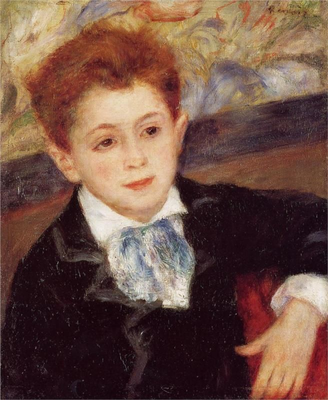 Pierre-Auguste Renoir (French 1841–1919) [Impressionism] Paul Meunier, 1877. Private Collection.