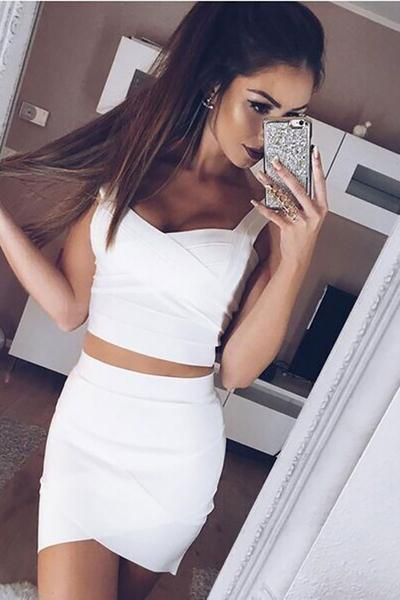 336723a1e97b White Mini Sexy Bandage Tight Skirt in 2019   Bottoms   Fashion ...