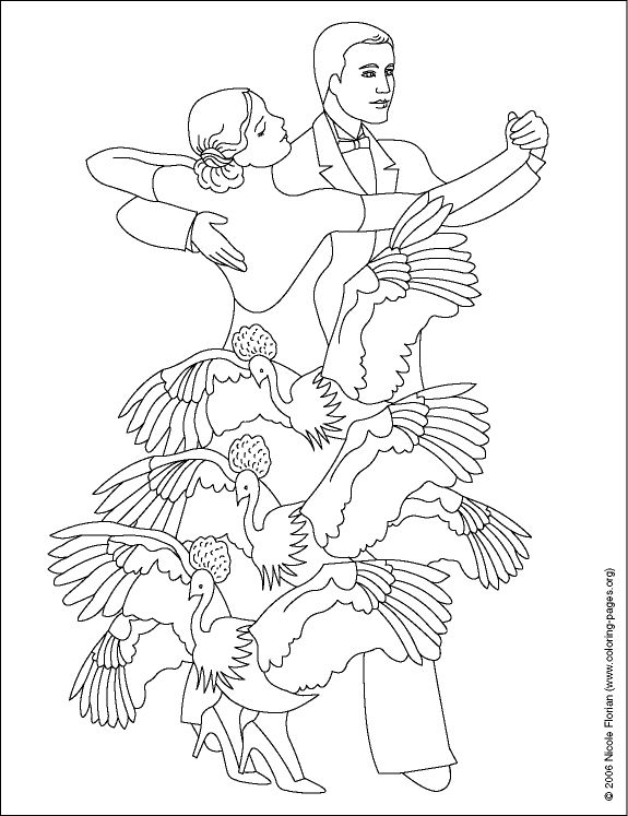 ballroom dancer coloring pages - photo#4