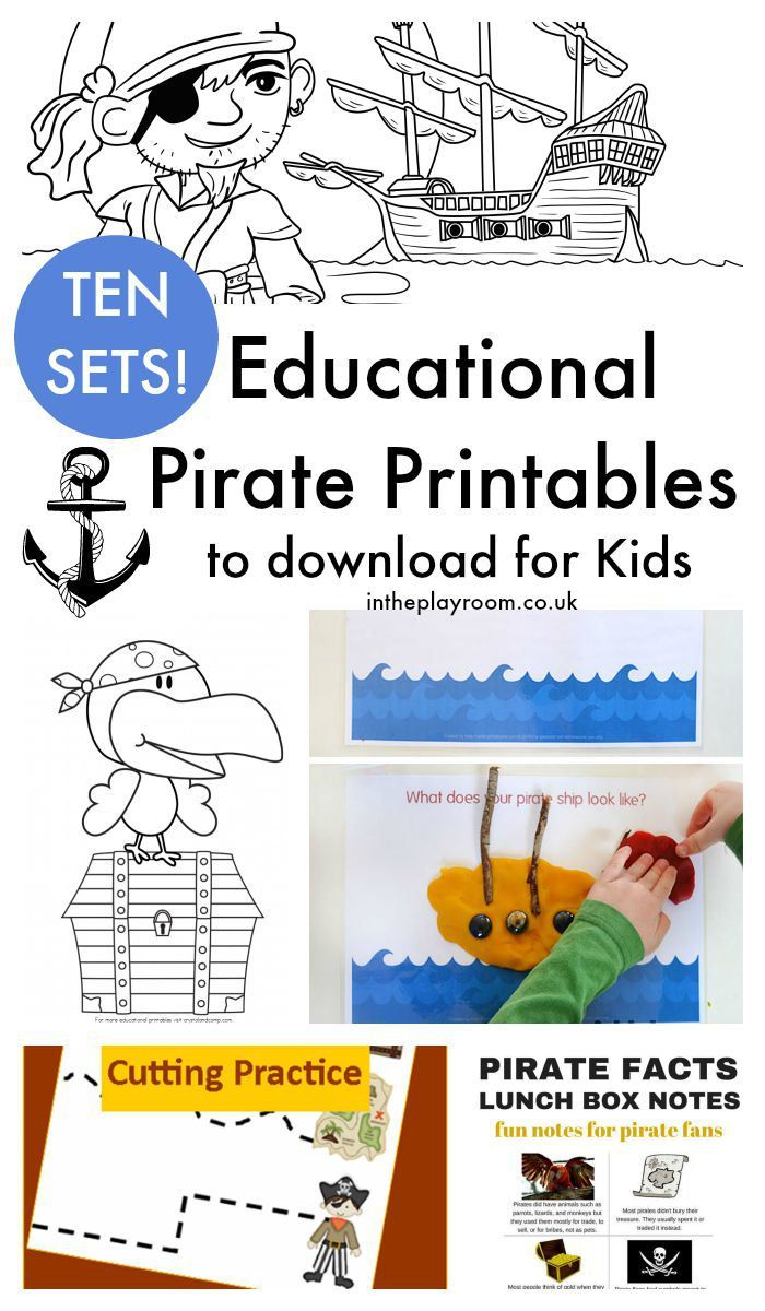 13 Fun Pirate Crafts for Kids ~ Plus pirate activities and pirate printables too! ~ from intheplayroom.co.uk