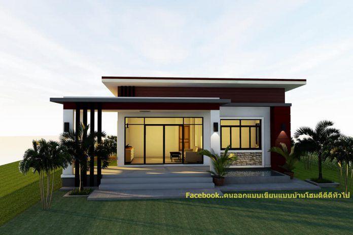 แบบบ านทรงโมเด ร น 2 ห องนอน 1 ห องน ำ พ นท ใช สอยต วบ าน 86 ตรม Thai Let S Go การออกแบบหน าบ าน ภายนอกบ าน สถาป ตยกรรมบ าน