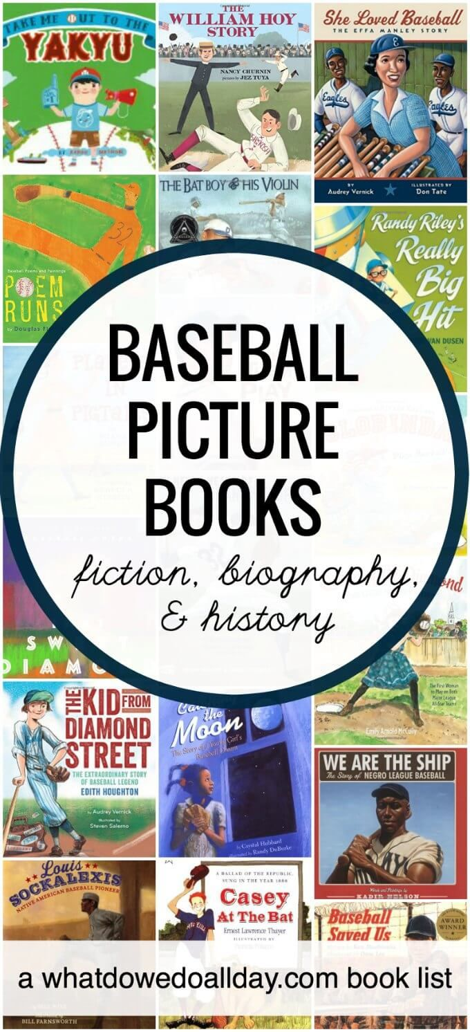 Baseball Books For Kids Picture Books And Nonfiction Books About The  Allamerican Sport