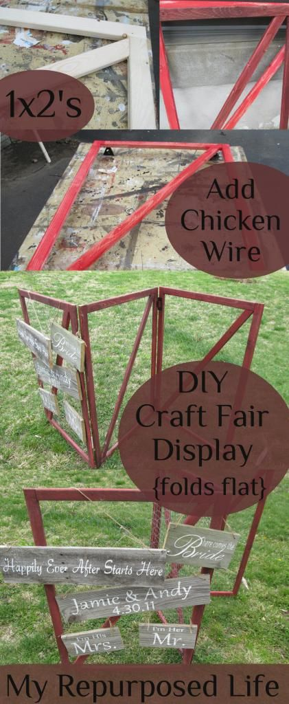 My Repurposed Life- DIY Craft Fair Display Made with Chicken Wire {folds flat for storage}