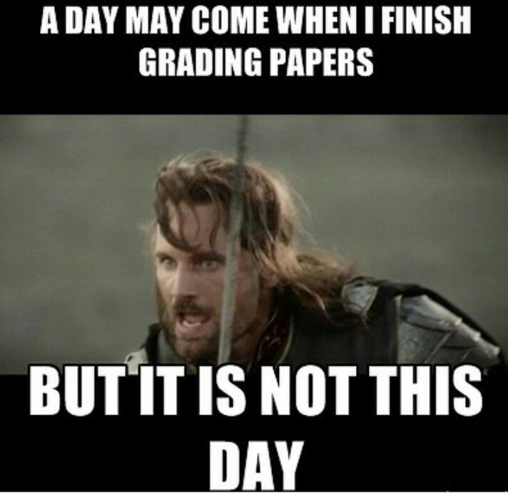 A teacher's face when ... this is NOT the day he finished grading papers.