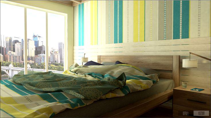Yatak Odası Tasarımı ve Modellemesi & Bedroom Design and Modeling