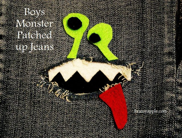 Patches for Boys Pants | clothes REfashion - Monster patches for jeans