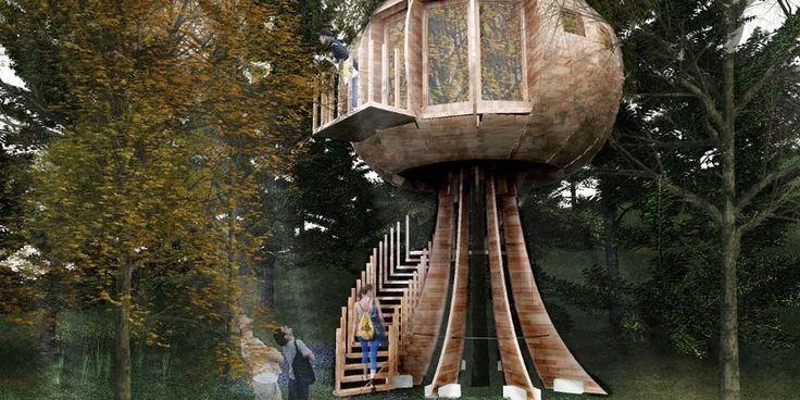 Futuristisches Baumhaus Bad Harzburg | futuristic Treehouse project in Germany