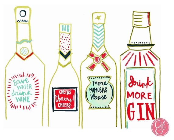 8.5 x 11 Bar Cart Print---plus an additional print with the quote of your choice