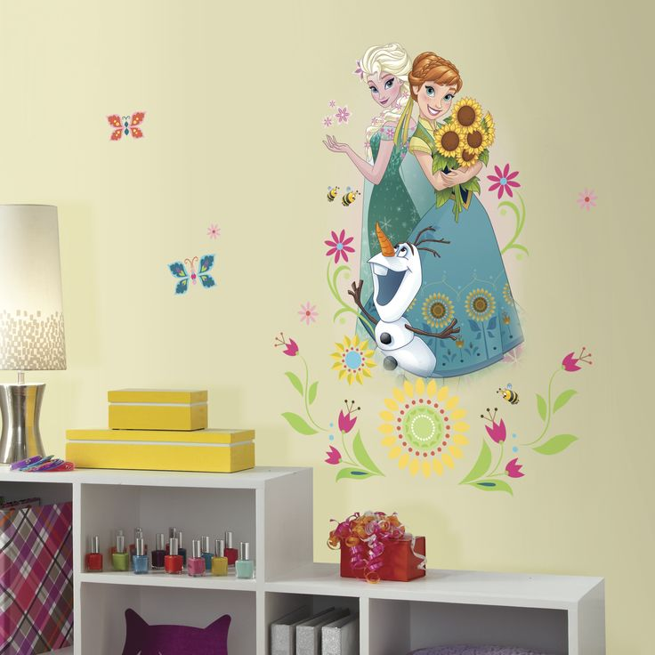Enhance your childs room with their favorite characters from Disney Frozen Fever with the Disney Frozen Fever Group Giant Wall Graphic. Its a new twist to Frozen your child will love. Fast and fun, mo