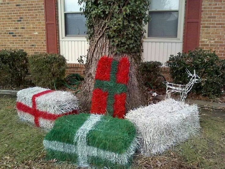 Hay bale leftovers holidays christmas pinterest hay for Bales of hay for decoration