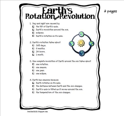 Earths rotation quiz
