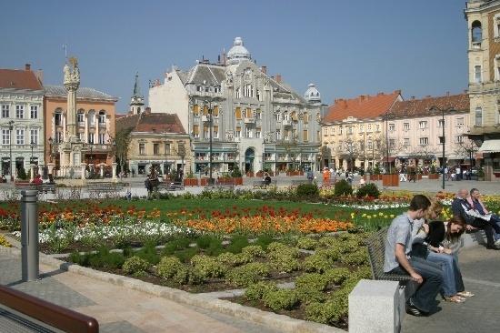 Main Square, Szombathely (pr. som-batt-hey) #Hungary
