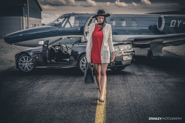 Photoshoot for Aston Martin Denmark // Model: Vaiga // Photo: Stanley Photography