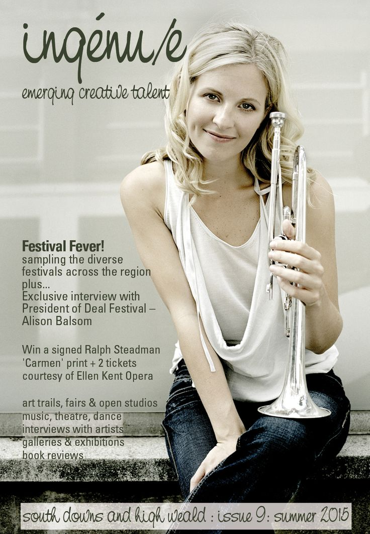 Front cover of issue 9 of ingénue magazine; pictured: Alison Balsom