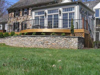 Raised Deck Surrounding Sunroom Outdoor Possibilities