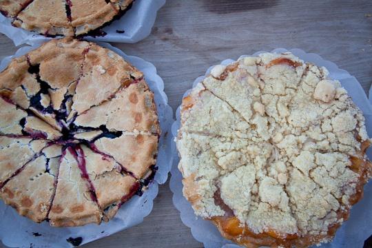 Blueberry Rhubarb Sour Cream Pie
