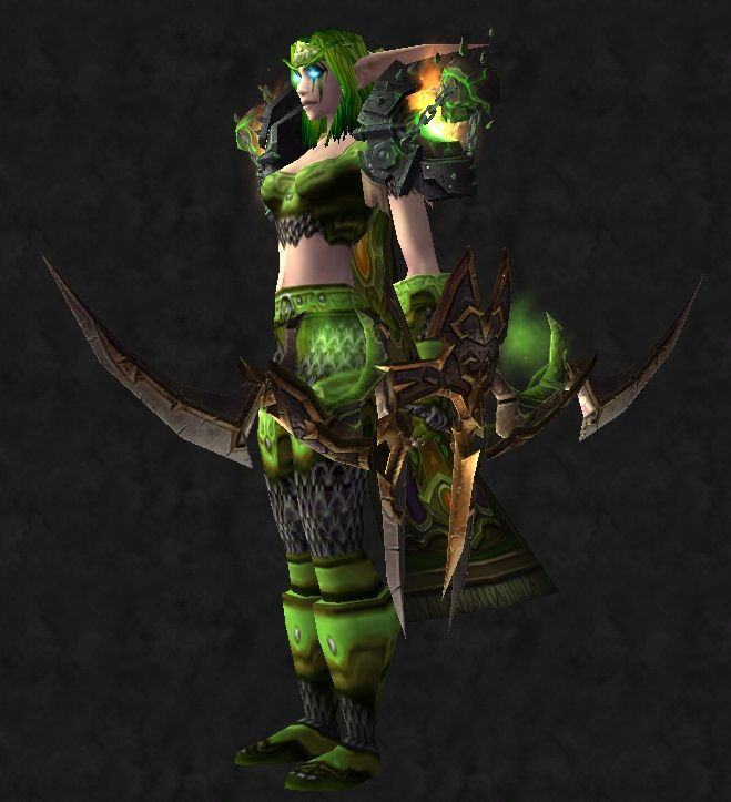 Green hunter Transmog front