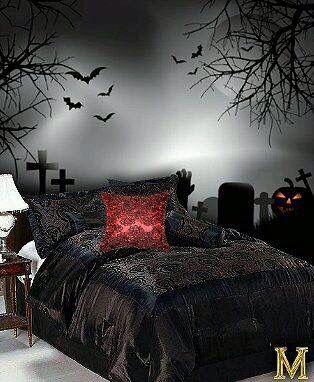 Bed. FlockingGothic RoomGothic Bedroom DecorGothic ...