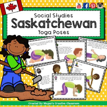 Hey Everyone I'm so glad to give you this awesome product absolutely FREE! I use this one in my classroom, page for page so I'm putting it up to share with you! You're going to love it and your kids are too. They love using their bodies to do these yoga poses - each card is created to resemble an important part of Saskatoon's identity.