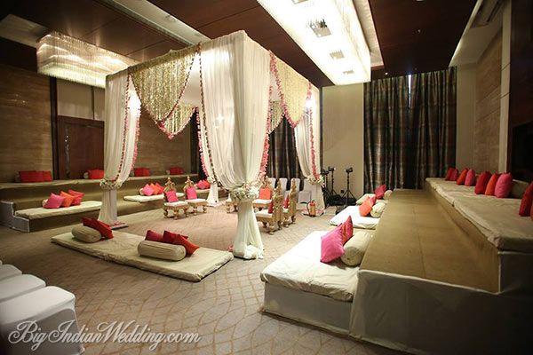 Rohit Bal Luxury Weddings elegant wedding mandap