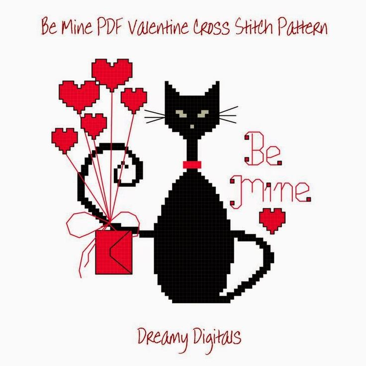 Happiness is Cross Stitching : Freebie Friday - New Mini Cat Patterns for January and February and then every month of the year!