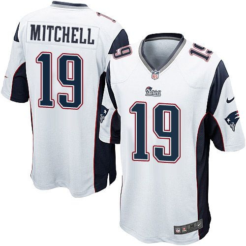 Youth Nike New England Patriots #19 Malcolm Mitchell Game White NFL Jersey