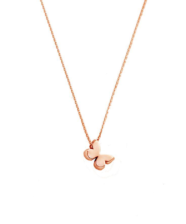 Joy de la Luz initial collier 14K gold | butterfly roségold